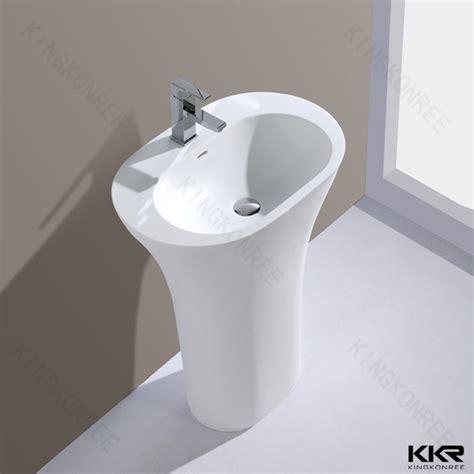 Fancy Artificial Marble Freestanding Restaurant Bathroom