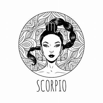 Zodiac Coloring Scorpio Signs Scorpion Horoscope Symbol