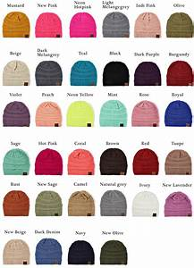 Royal Hair Color Chart Solid Color Groove Knit Beanie Hats By Cc Brand