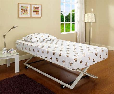 pop up trundle bed frame for flexible interior arrangement
