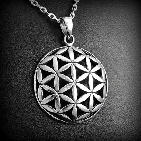 pendentif fleur de vie argent excalibur bijoux