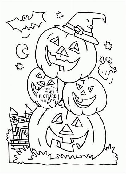 Coloring Pages Pumpkins Halloween Funny Printables Pumpkin