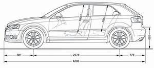 Longueur Audi A3 : 1 4 dimensions audi a3 2009 ~ Medecine-chirurgie-esthetiques.com Avis de Voitures