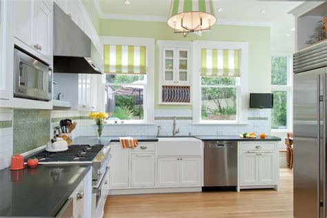 Small Kitchen Design In Yellow Blue Shades by How To Dress Windows With Roller Shades Welda Shading
