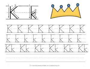 letter k tracing tracing worksheets for the letter k learning how to write the capital letter k preschool