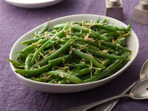thanksgiving string bean recipes green beans with lemon and garlic recipe the neelys food network
