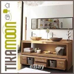 Meuble Salle De Bain 160 : meuble salle de bain en bois de teck brut 160 layang ~ Melissatoandfro.com Idées de Décoration