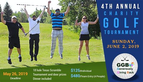 GGB'S 4th Annual Charity Golf Tournament - Edmonton ...