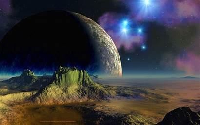 Desktop Space Scifi Planets Setting Backgrounds Moon