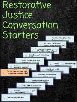 restorative justice conversation starters lanyard cards