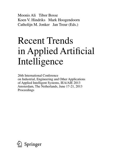 (PDF) Recent Trends in Applied Artificial Intelligence
