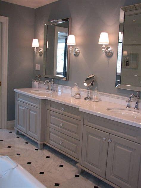 crystal knobs   gray cabinets bathroom pinterest