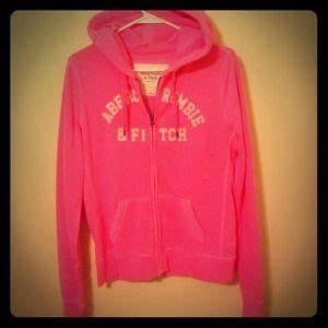 Abercrombie & Fitch Neon Pink Full Zip Up Abercrombie