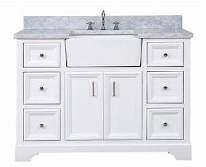 Zelda 48 Quot Farmhouse Vanity In Carrara Marble White