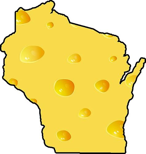 """""""Wisconsin Cheese State"""" Stickers by baileymincer 