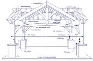 12 X 24 Timber Frame Pavilion Plans