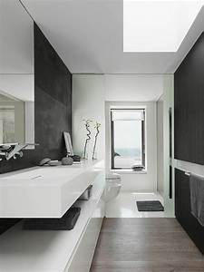 Bathroom palette black white for Black and white modern bathroom
