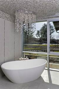 Flush Mount Crystal Chandelier Bathroom Contemporary With