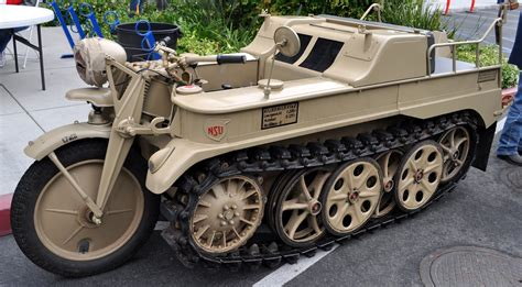 The Tank Bike, A 1943 Nsu Kettenkrad That Drove To The