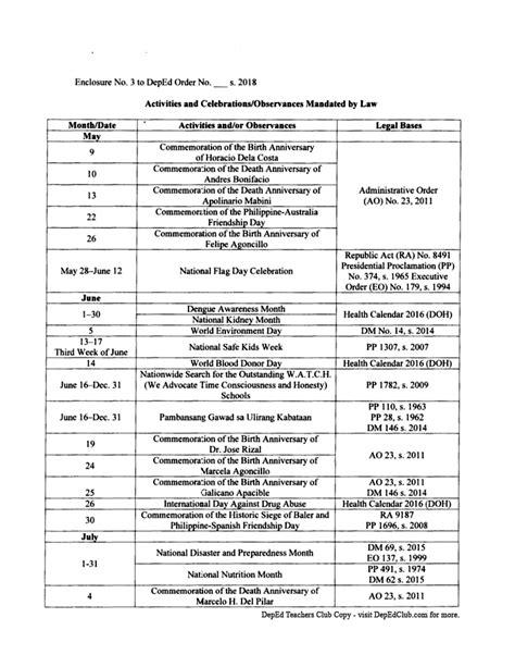 school calendar school year page