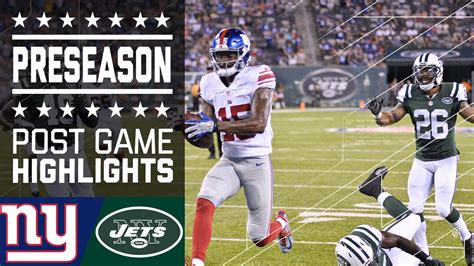 Giants vs. Jets | Game Highlights (2016 Preseason) | NFL ...
