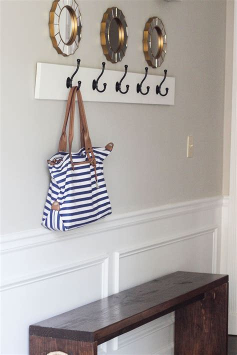Foyer Coat Rack by How To Build A Wall Mounted Coat Rack Diy Ideas Wall