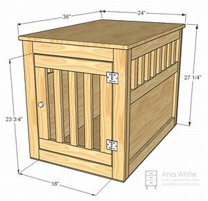 Ana White Large Wood Pet Kennel End Table - DIY Projects