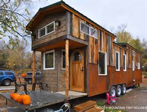 Corrugated Steel Floor Decking by Family S 34 Red Mountain Tiny Home By Rocky Mountain Tiny
