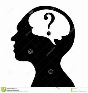Silhouette Of The Head And Brain Stock Illustration ...