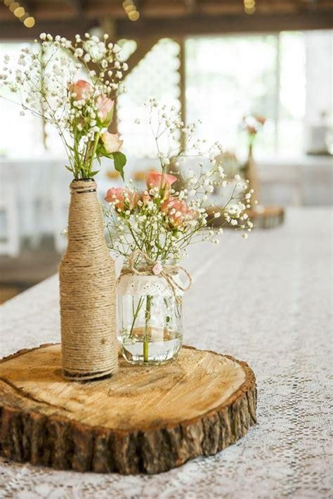 Tischdeko Mit Holz  Gemütliche Atmosphäre Zum Feiern