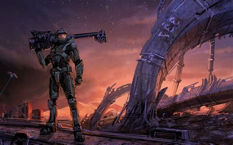halo master chief xbox artwork video games wallpapers