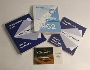 62 Chevy Manual Literature Set New 1962 Guide Gm