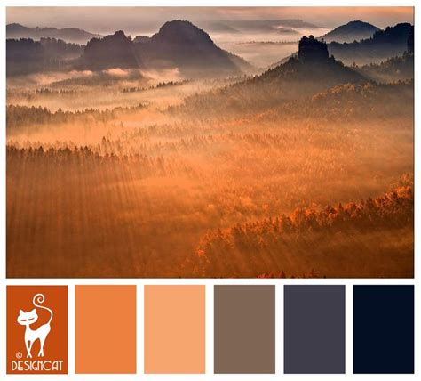 mountain sun burnt orange peach blush grey slate grey blue navy designcat colour