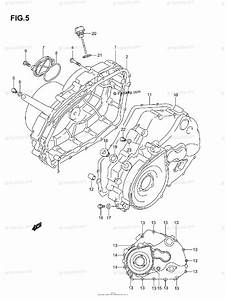 Suzuki Atv 2005 Oem Parts Diagram For Crankcase Cover