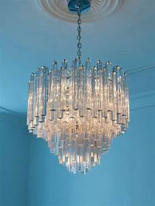 Murano Glass Chandelier Modern : modern italian crystal venini chandelier by camer at 1stdibs ~ Sanjose-hotels-ca.com Haus und Dekorationen