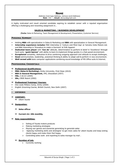 Resume Format by Pin On Resume