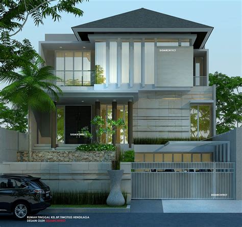 desain rumah  lantai minimalis tropis nuansa mewah