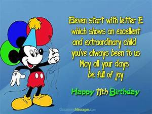 Happy 11th Birthday Wishes and Messages - Occasions Messages