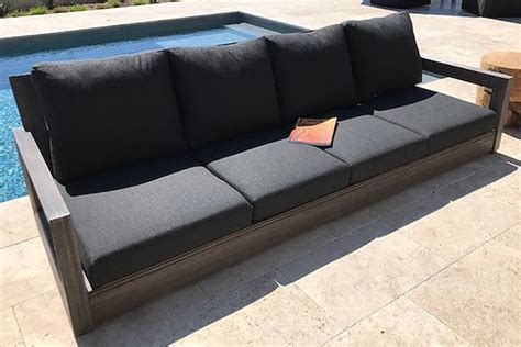 ventura teak outdoor sofa  sunbrella cushion iksun