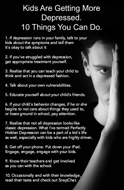 Kids Are Getting More Depressed 10 Things You Can Do
