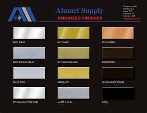 Alumet Anodized Finishes Color Chart Metal Roof Colors