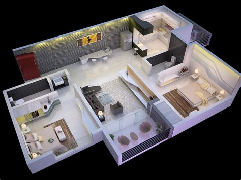 2 Bedroom House Photos by 25 More 2 Bedroom 3d Floor Plans