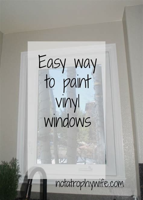 easy   paint vinyl windows