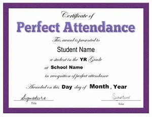 Perfect Attendance Certificate Template Search Results For Certificate Of Attendance Template Editable Calendar 2015