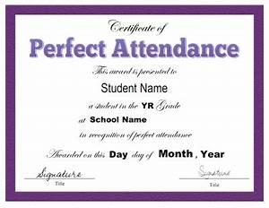 Perfect Attendance Certificate Template Search Results For Certificate Of Attendance Template Editable Calendar 2015