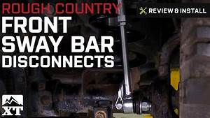 Jeep Wrangler Rough Country Front Sway Bar Disconnects 2 5