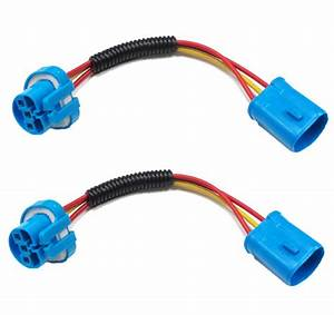 9005 9006 9007 H11 Extension Wiring Harness Sockets Wire