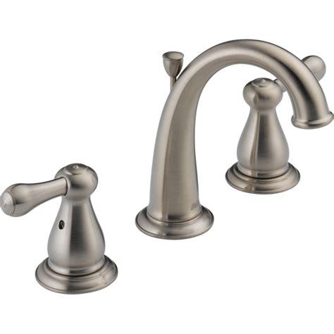 widespread bathroom sink faucet shop delta leland stainless 2 handle widespread watersense