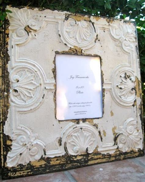 antique ceiling tin tile 8x10 picture frame large