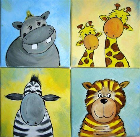 Kinderzimmer Gestalten Afrika by 4 Tierbilder Dschungel Giraffe Tiger Safari Afrika